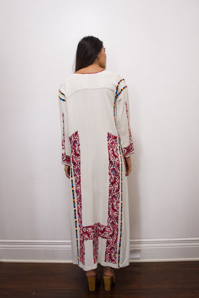 1960s Mexican Hand-Embroidered Cross-Stitch Dress