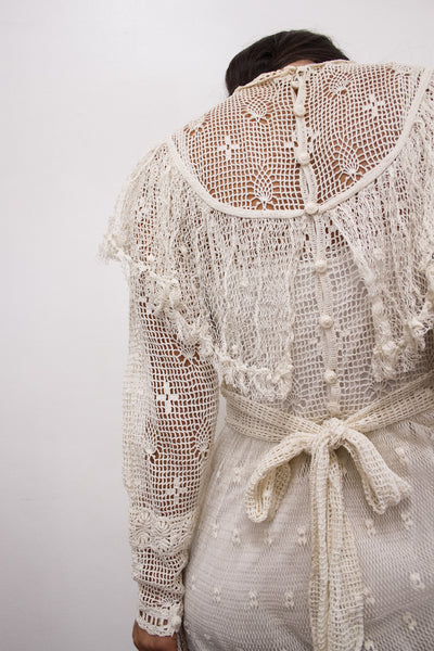 1960s Lim's Crochet Knit Dress