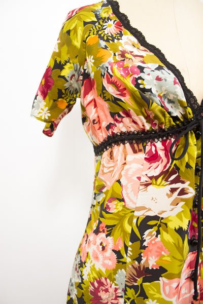 1990s Betsy Johnson Floral Print Dress