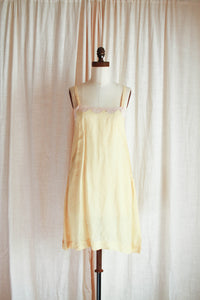 1930s Buttercream Yellow Cami Slip