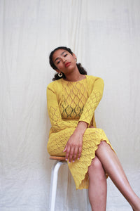 1930s Canary Yellow Knit Set