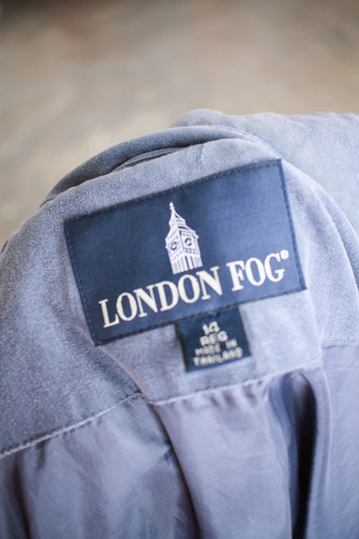 1990s London Fog Periwrinkle Coat