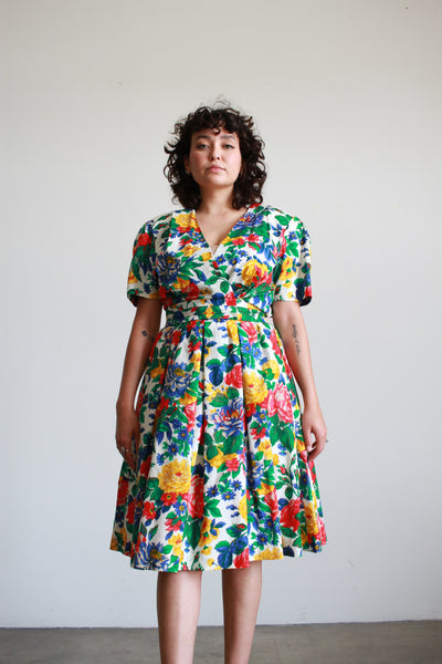 1970s Deadstock Indian Gauzy Striped Tshirt Dress