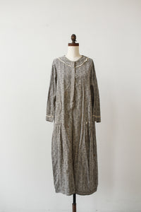1920s Checkered Feedsack Cotton Dress