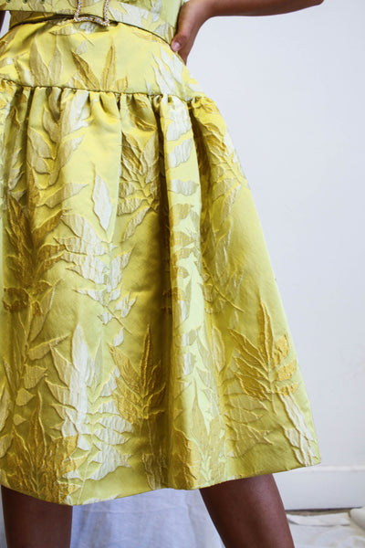 1990s Kevan Hall Silk Brocade Couture Dress