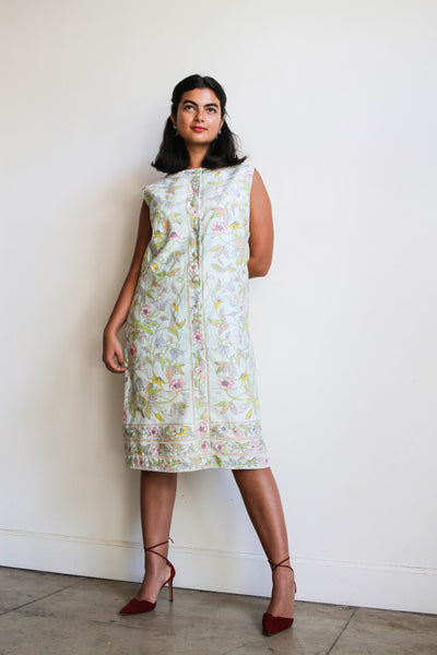 1960s Botanical Print Shift Dress