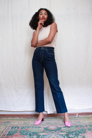 1980s Sasson Dark Wash High Waist Denim