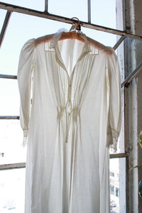 Victorian White Cotton Puff Sleeve Night Dress