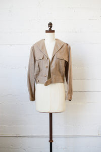 1980s Ralph Lauren Linen Crop Jacket