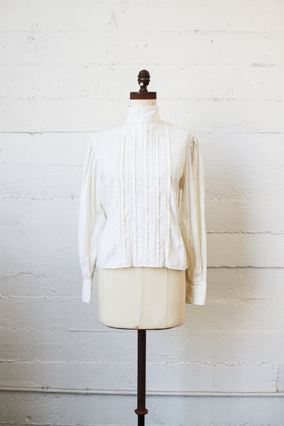 Victorian Cream Lace Pleated Blouse