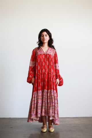 1970s Indian Deadstock Striped Long Sleeve Wrap Top
