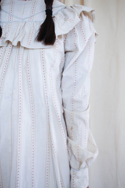 Antique 1800s Cotton Printed Dressing Gown