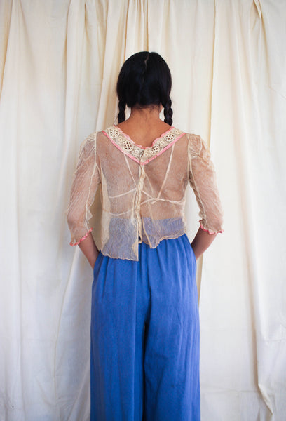 Antique Edwardian Mesh Blouse