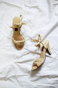 1950s Jacques Cohen Tuscan Yellow Heels | 37