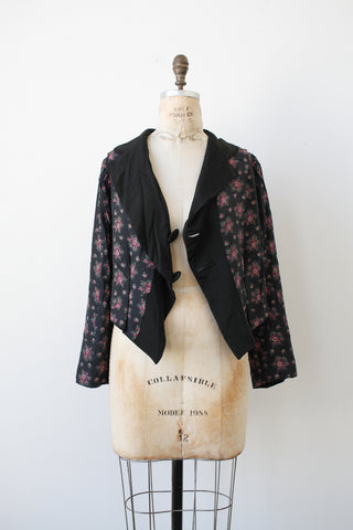 Edwardian Reversible Print Silk Jacket