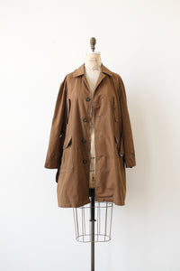 1960s Brown Beige Unisex Overcoat