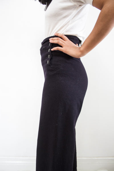 1960s Navy Wool Sailor Trousers