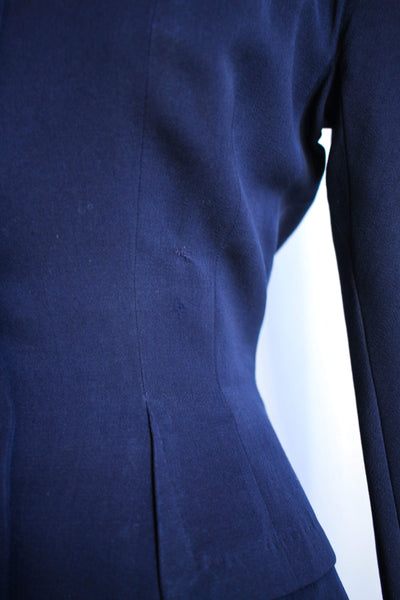 1940s Navy Wool Suit Set
