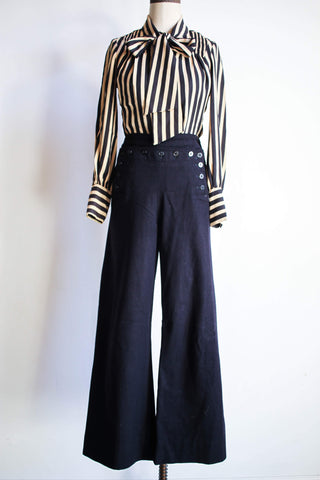 1960s Navy Wool Sailor Pants