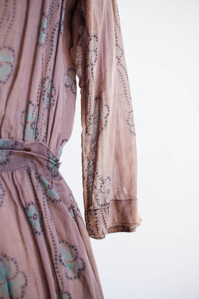 Edwardian Rare Print Cotton Voile Dress