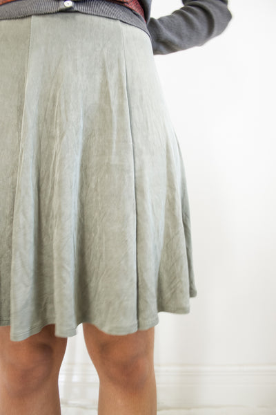 1990s BCBG Slinky Sage Mini Skirt