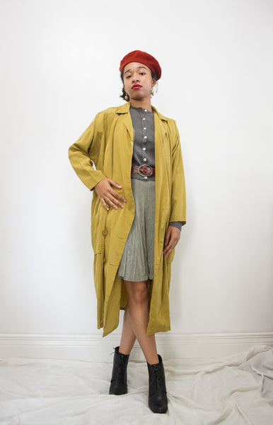 1970s Chartreuse Cocoon Coat