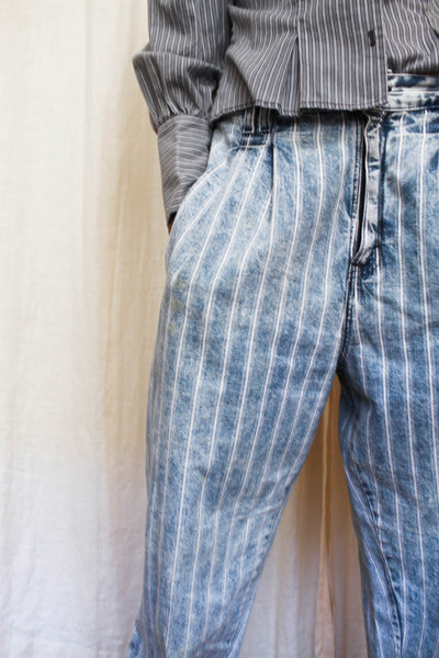 1980s 900s Series Levis Striped Worn Baggy Jeans