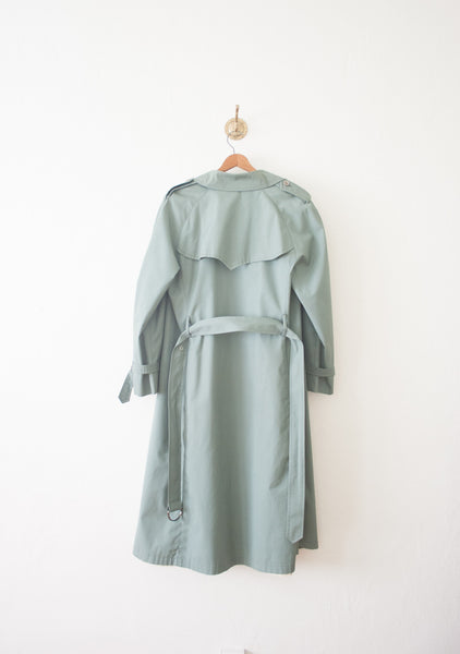 Pistachio London Fog Trench Coat