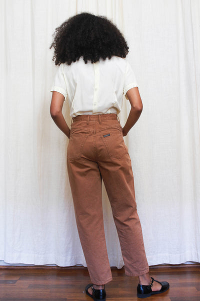 1980s Guess Clay Tone Cotton Pants