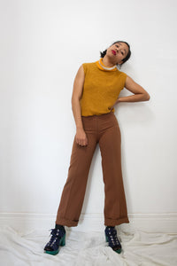 1970s Copper Front Zip Trousers