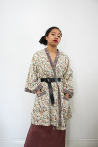 1980s Paisley Indian Print Cotton Robe