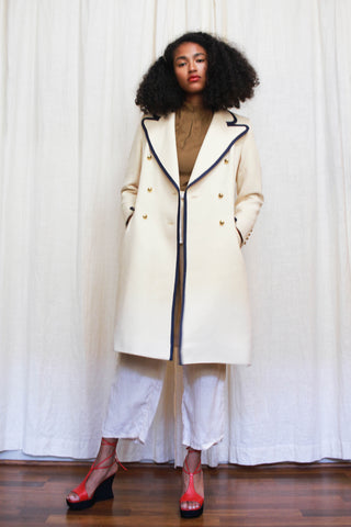 1960s Jaeger Cream Wool Coat