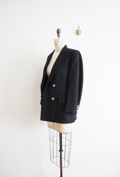 Black Silk Lined Sports Jacket
