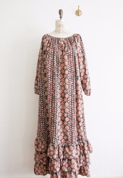Floral Ruffled Long Maxi Dress
