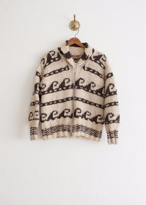 Cowichan Wavy Knit Wool Jacket