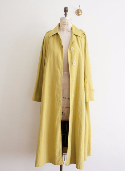 Christian Dior Chartreuse Trench Coat