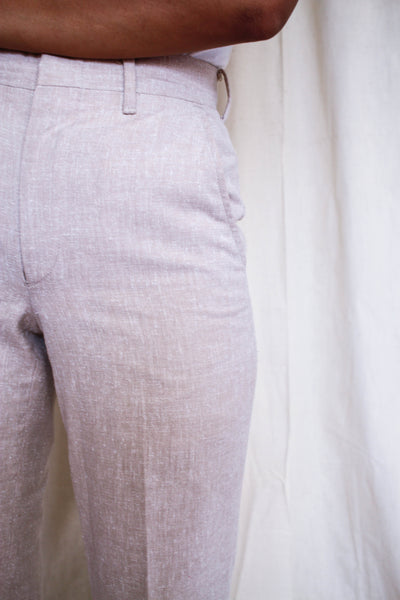 1970s Speckled Beige Tailored Trousers