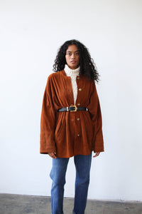 1990s Sienna Brown Suede Jacket