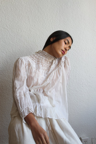 Edwardian Cotton Lace Blouse