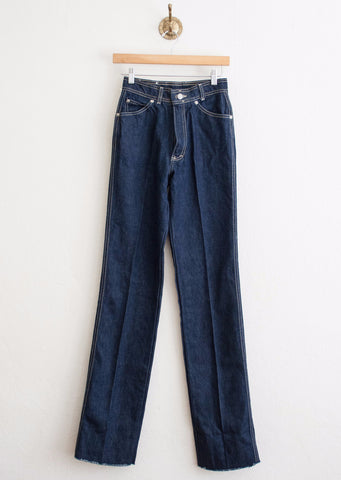 Oscar De La Renta Dark Raw Denim Jeans | 26