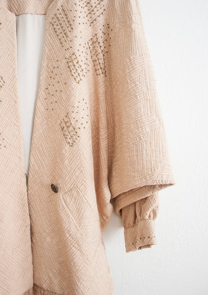 Blush Beaded Slouch Jacket