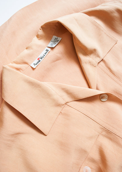 Anne Klein Peach Silk Shift Dress