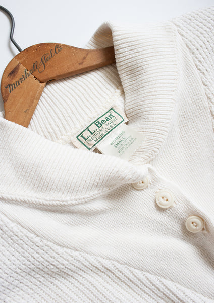 LL Bean Ribbed Cotton Pullover