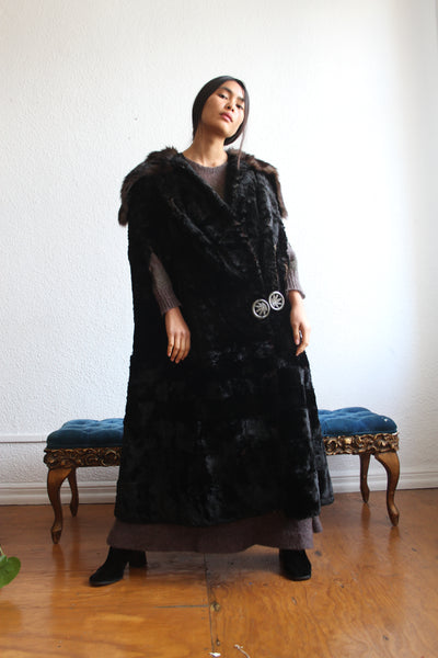 Victorian Rare Fur Floor Length Coat