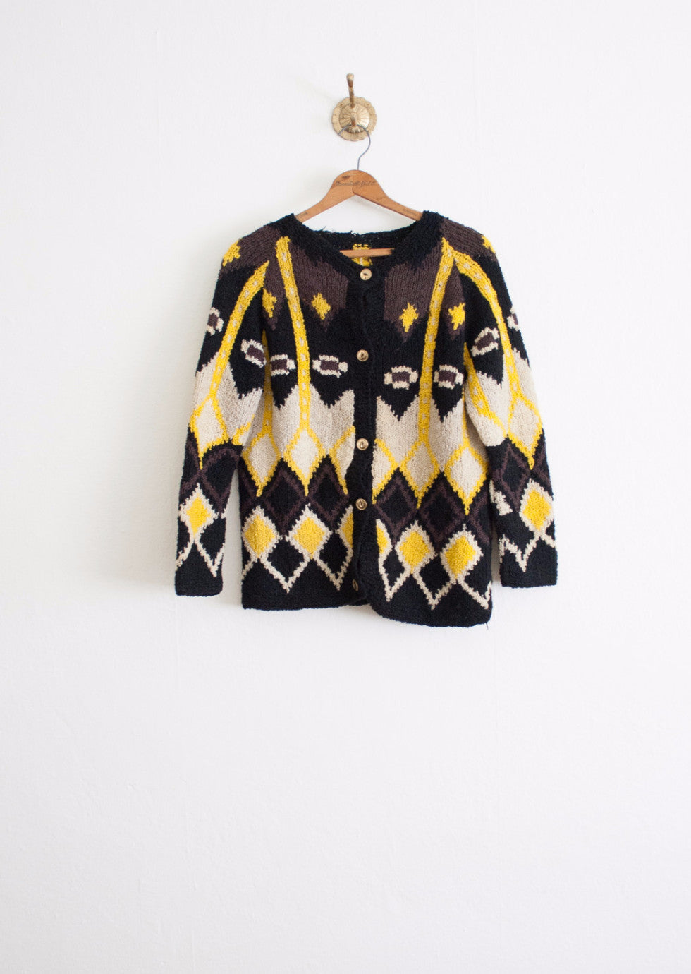 Geometric Chunky Knit Cardigan