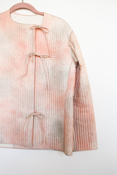 1980s Blush Gradient Quilted Jacket