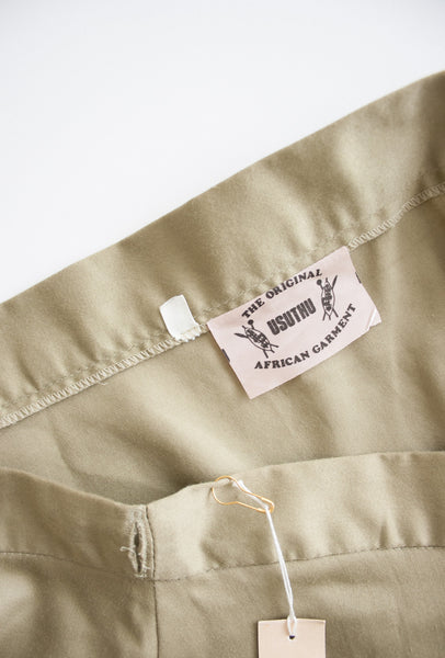 Beige Green Huntsmen Wrap Skirt