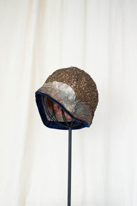 1920s Rare Lame Bullion Metallic Cloche Hat