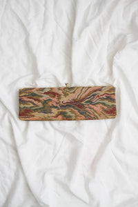 1950s Tapestry Woven Envelope Clutch