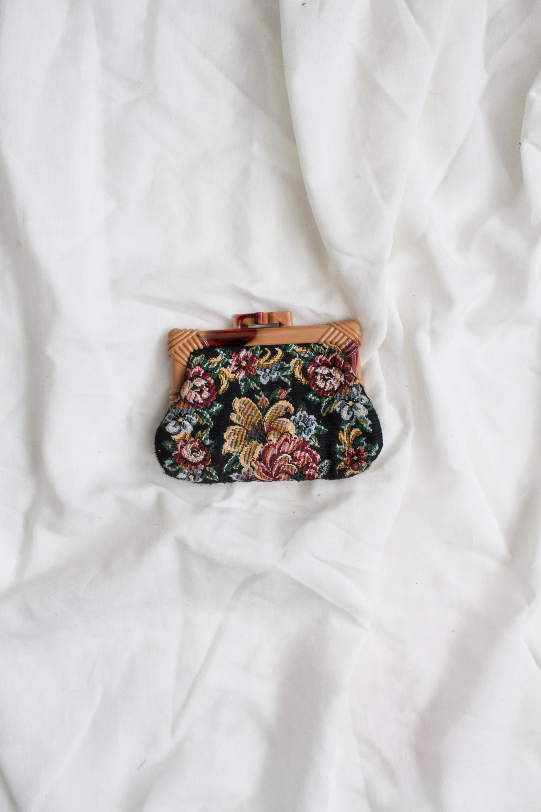 1950s Tapestry Coin Purse